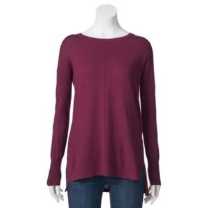 NWT Maroon Knit Seamed Sweater